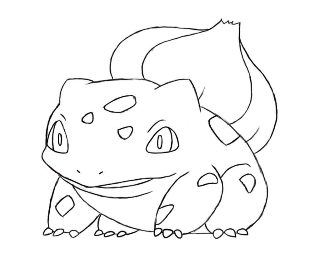 5 desenhos do Bulbasaur para baixar imprimir colorir e