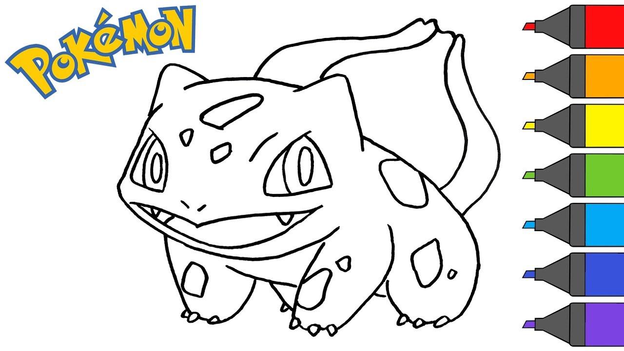5 Desenhos Do Bulbasaur Para Baixar Imprimir Colorir E Pintar