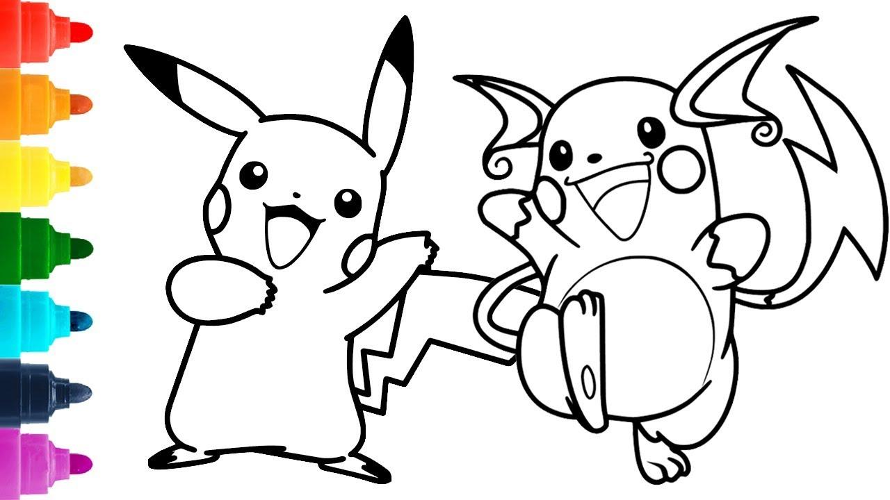 5 Desenhos Do Pikachu Para Colorir E Pintar Desenhos De Pokemon
